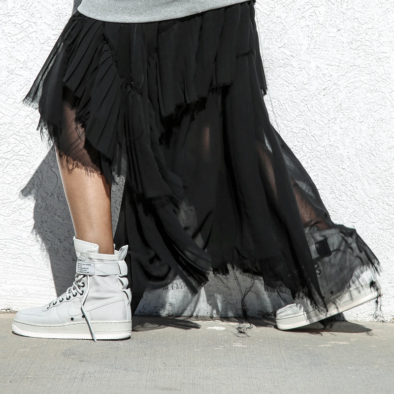 Nike air force 1 black cheap dress