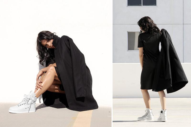 black nike air force 1 high womens wear