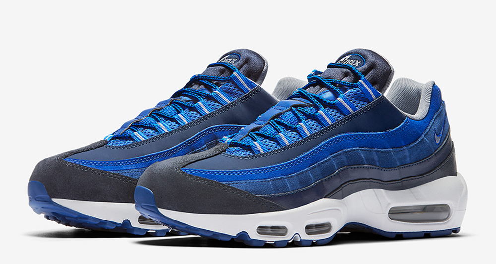 premium selection 9dc2f 037a0 Nike Air Max 95 Returns in Shades of Blue | Nice Kicks