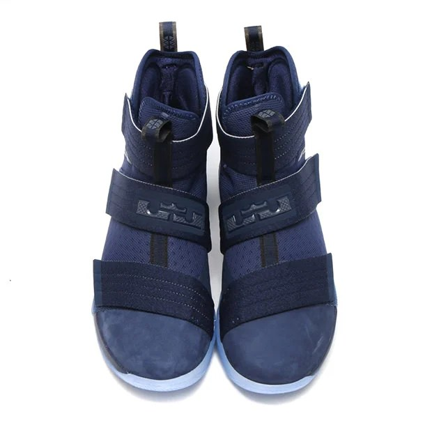 83d717c9aa62 Nike LeBron Soldier 10 Suede Toe Arrives in Midnight Navy