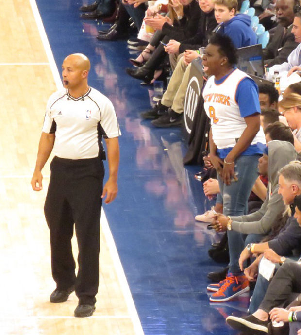 "Leslie Jones in the Air Jordan 1 ""Knicks"""
