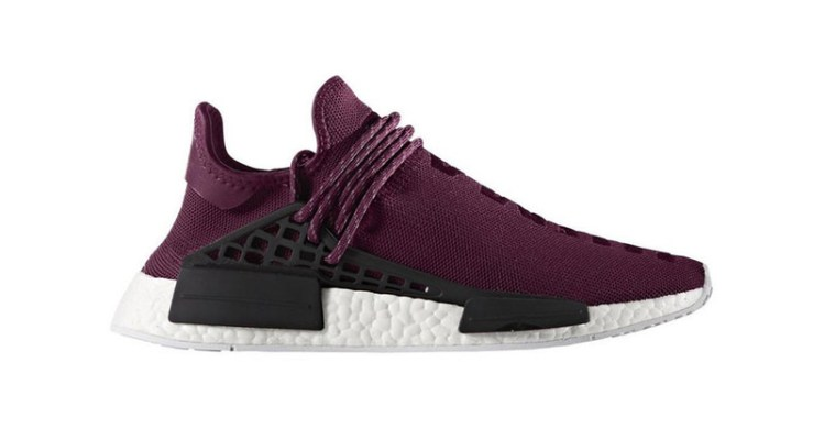 "Pharrell x adidas NMD Hu ""Noble Crimson"""