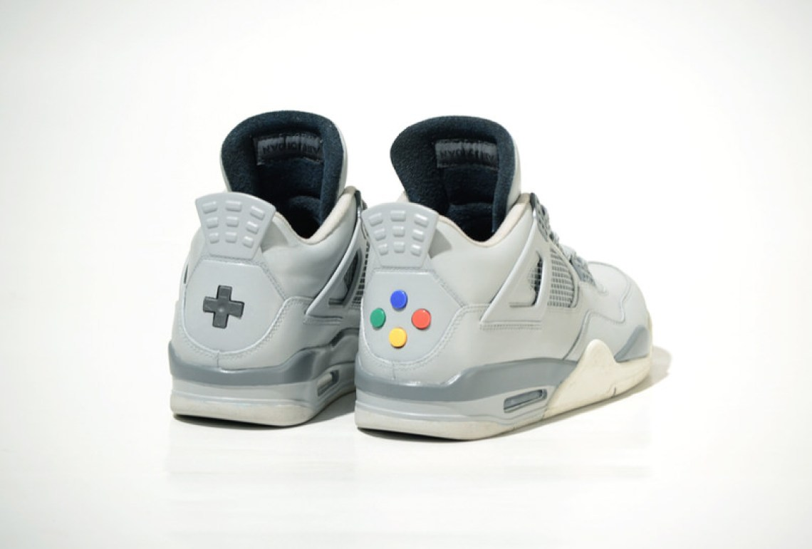 "Air Jordan 4 ""Super Nintendo"" Custom by Freaker Sneaks ... 2523fa39e"