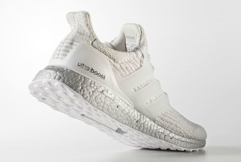 """low priced 5e6c2 b8bde Silver Sole Scores Latest """"White"""" adidas Ultra Boost 3.0"""