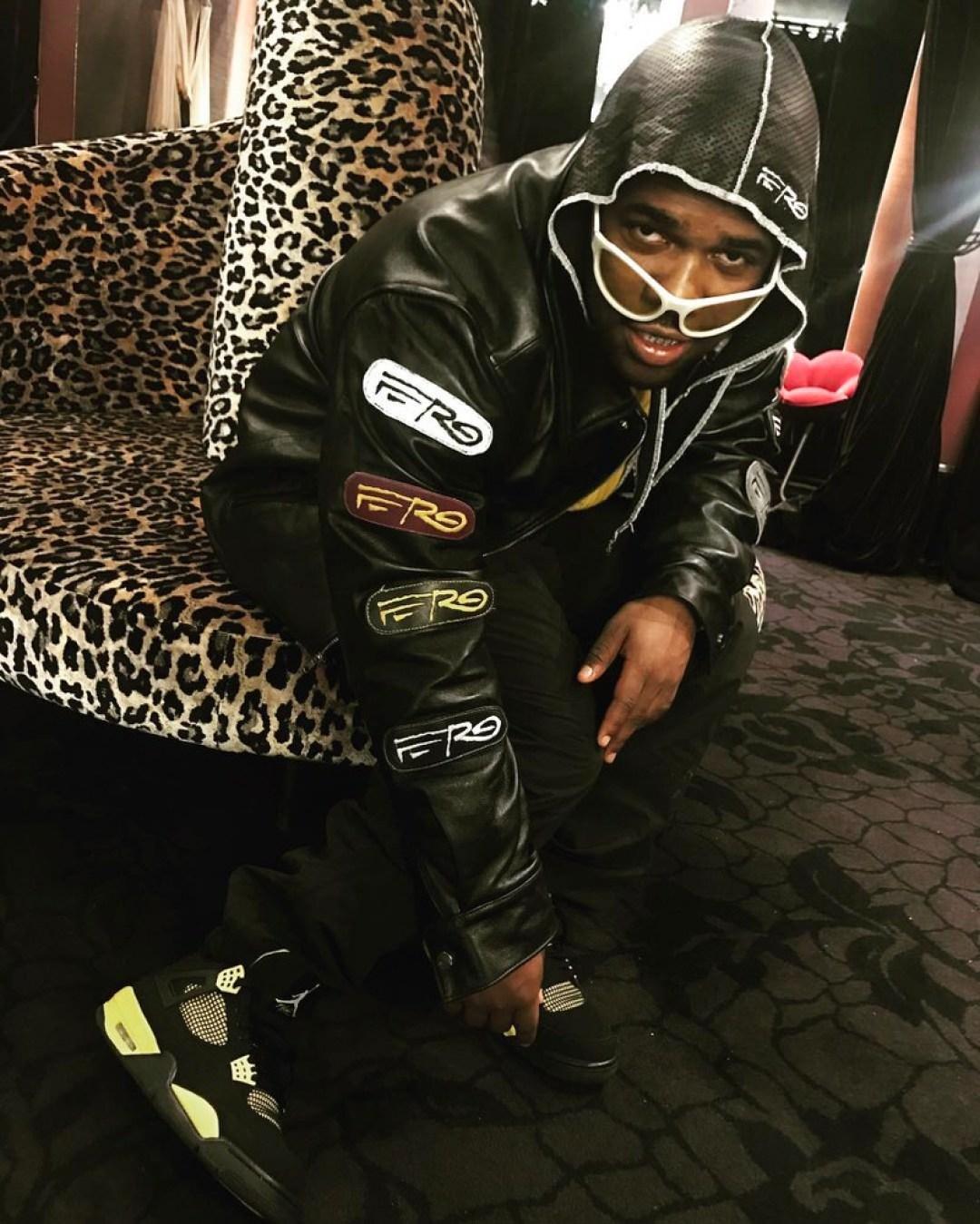 "A$AP Ferg in the Air Jordan 4 ""Thunder"""