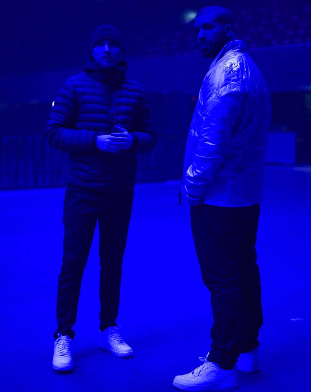 01c5e1795e8 ... Drake in the Nike Air Force 1 Low