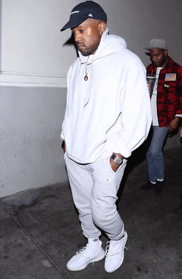 "Kanye West in the adidas Yeezy Boost 350 ""White"""