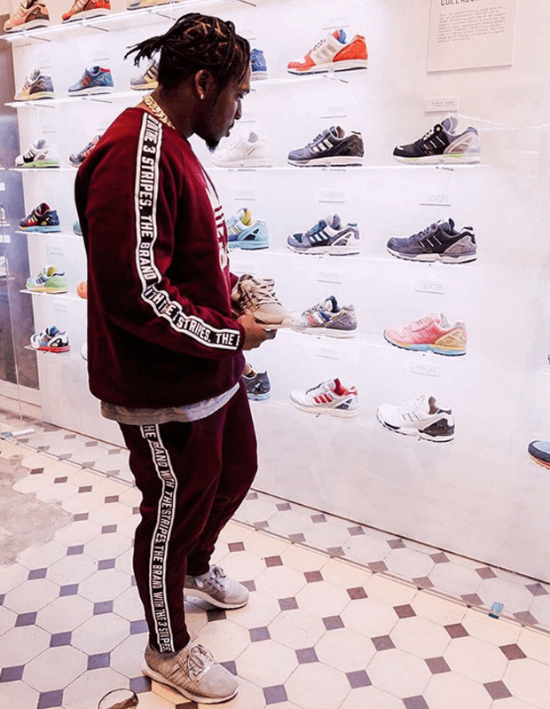 Pusha T in the Pusha T x adidas EQT