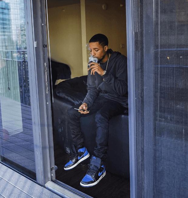 """Rockie Fresh in the Air Jordan 1 """"Royal"""""""