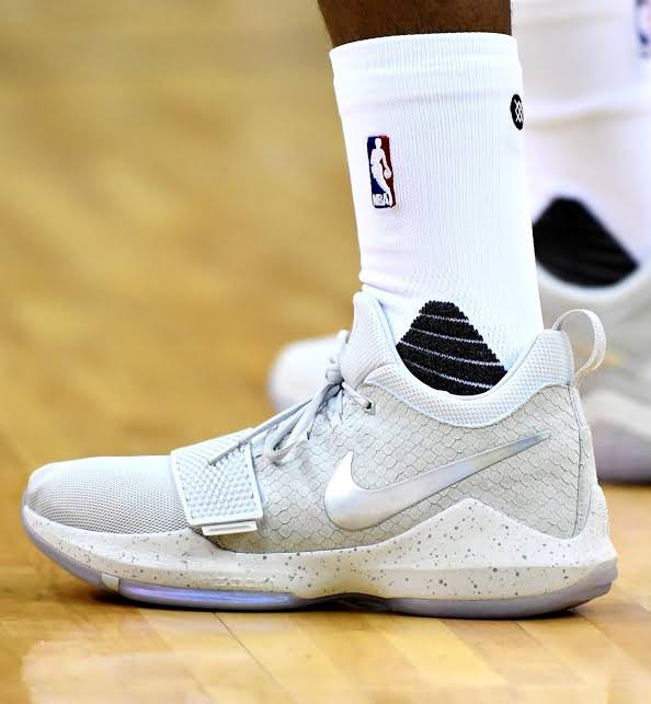 online retailer ebdfa 201b7 Paul George Dons Nike PG1 in London | Nice Kicks