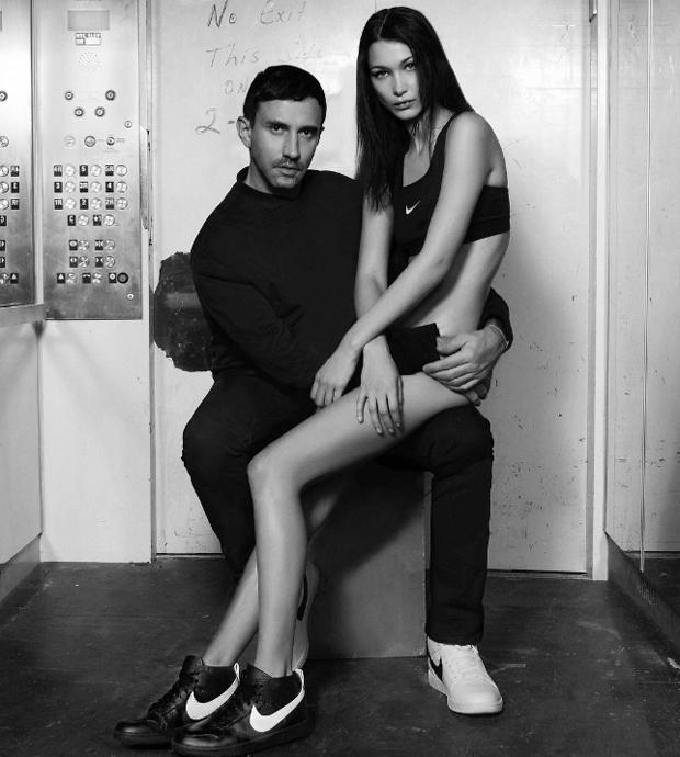 Bella Hadid in the Nike RT Dunk