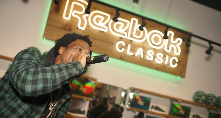"""c2d6cd63e16b3a Curren y   Reebok Classic Launch """"Jet Life"""" Club C at Sneaker Politics"""