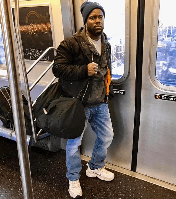 Kevin Hart in the Nike Air Monarch IV