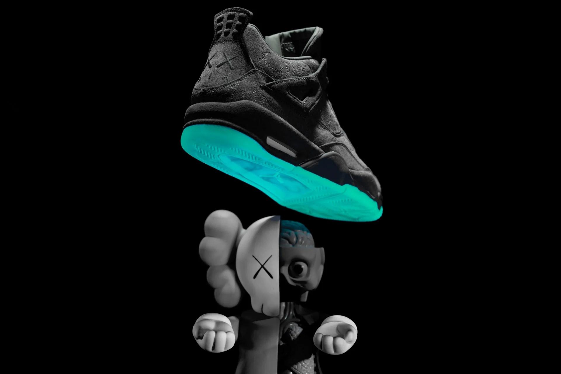 timeless design 350dd dd1dc See the KAWS x Air Jordan 4 Glow in the Dark | Nice Kicks