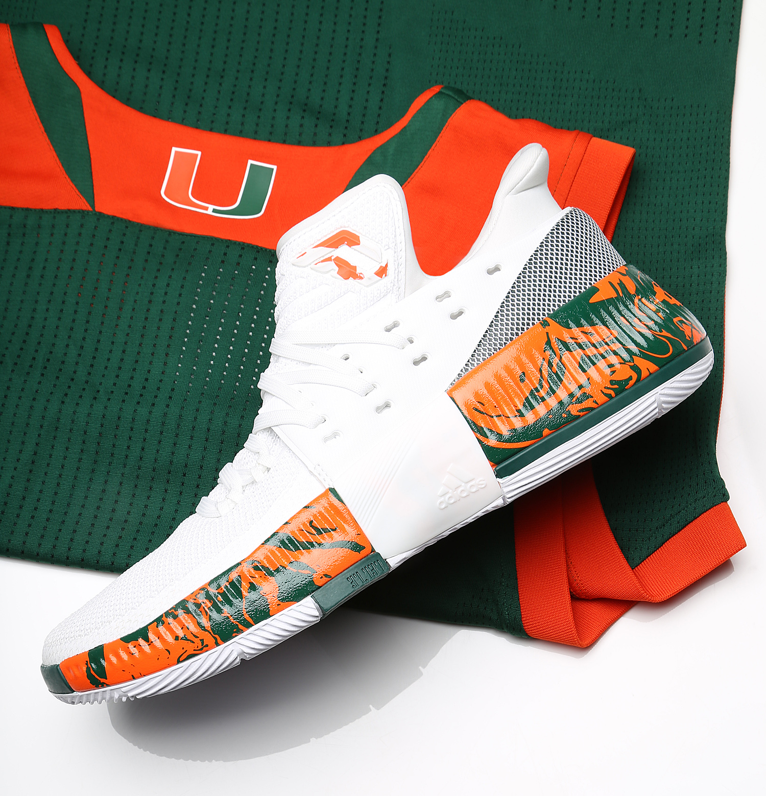 Exclusive Look At Miami s Adidas Dame 3 PEs For March Madness  e8fa1066c