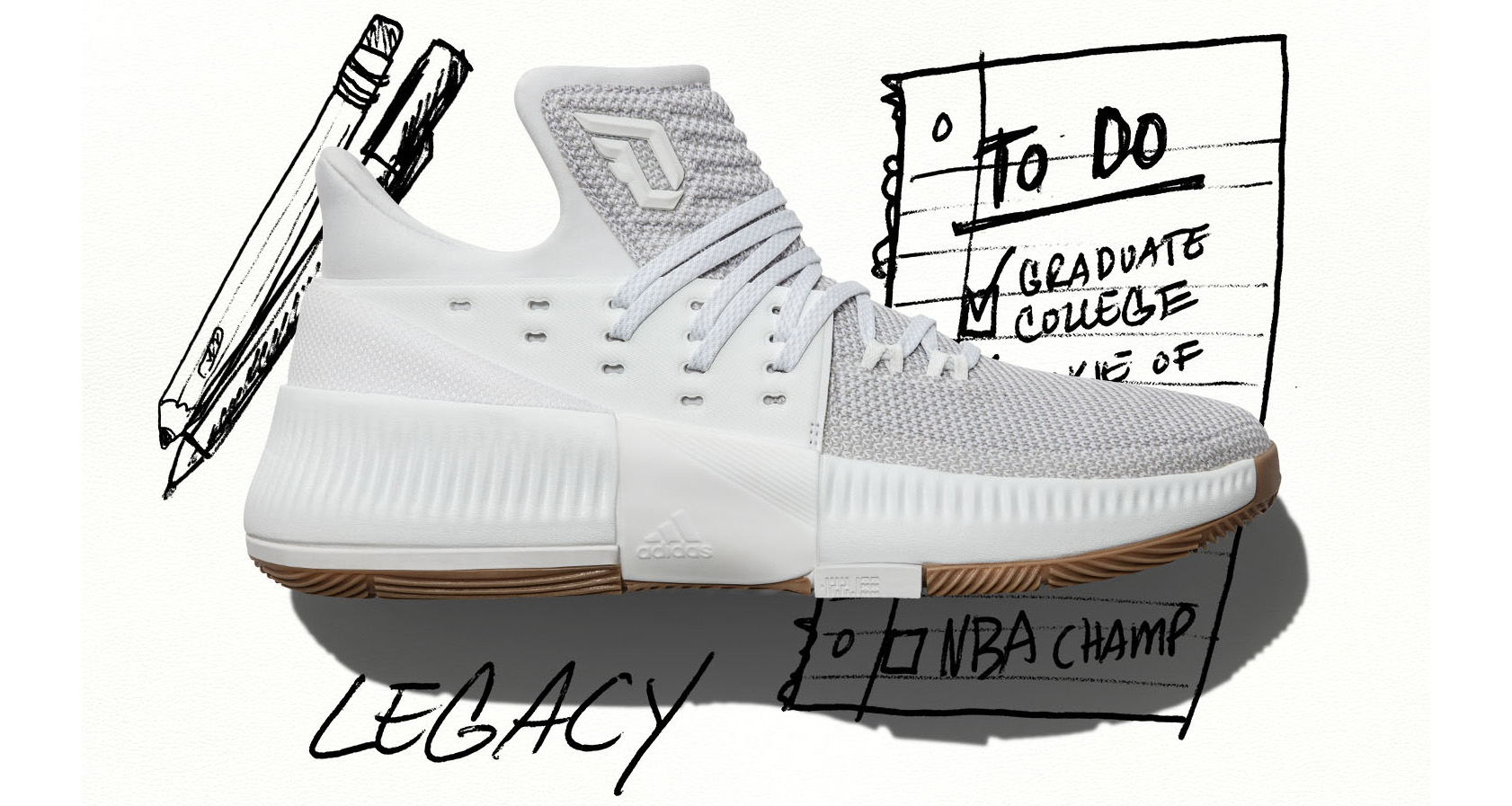 watch 4fa73 388c5 ... low price adidas explores damian lillards legacy with new dame 3 c9cd6  f1eb1