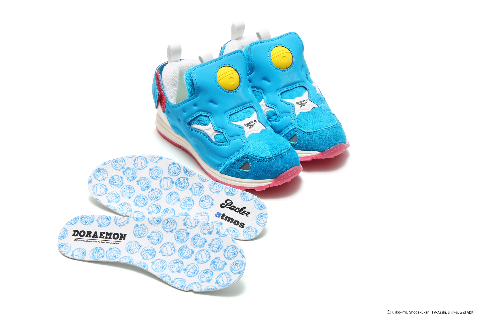 Reebok, Packer Shoes, and atmos for Doraemon Movie Release