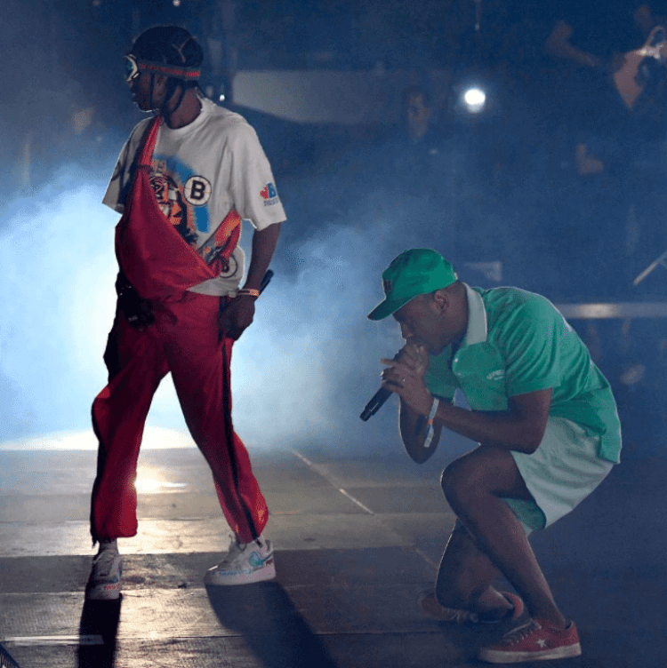 """ASAP Rocky in the Nike Air Force 1 Low """"VLONE"""" & Tyler the Creator in the Converse One Star Pro"""