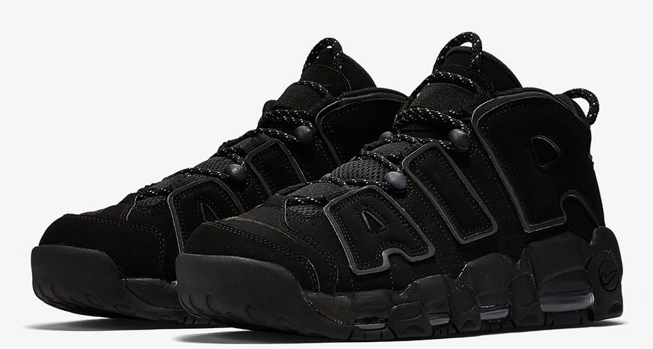Nike Air More Uptempo Black/Reflective