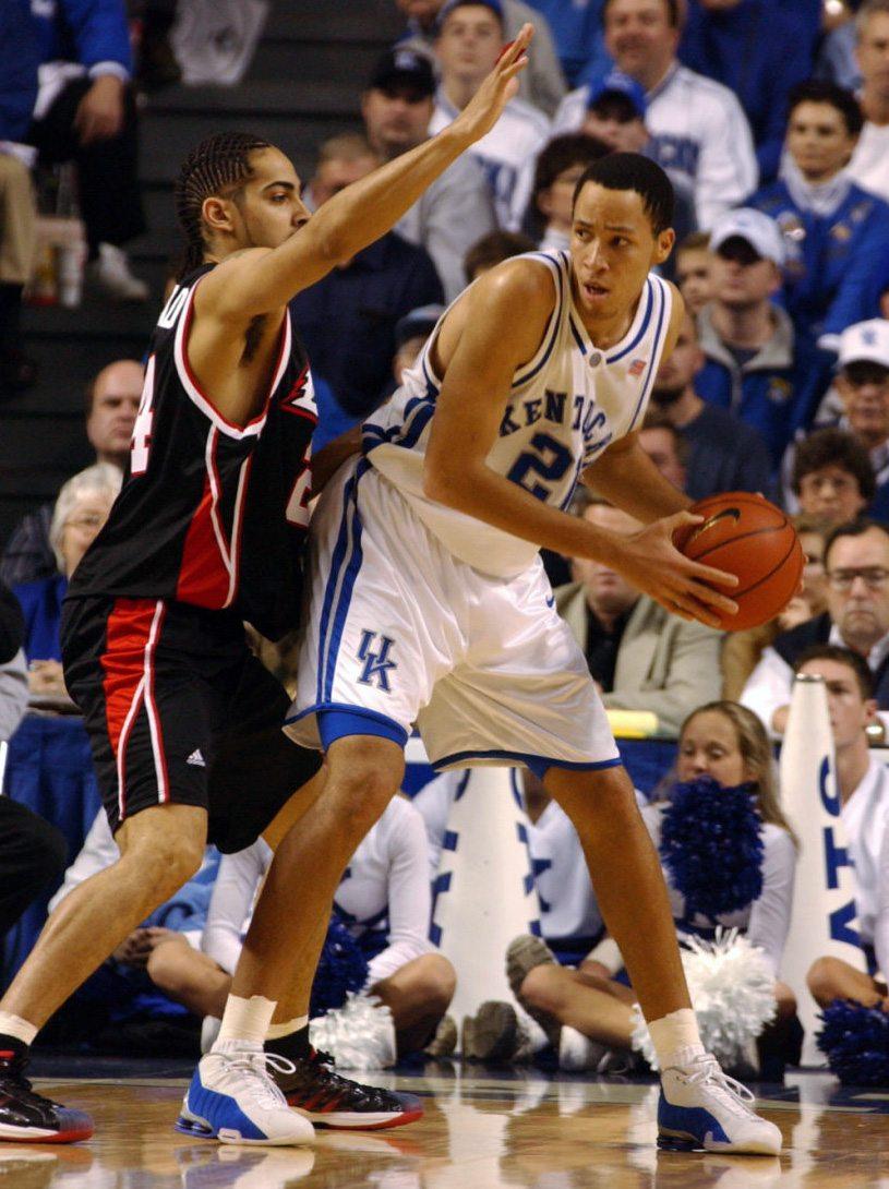 Tayshaun Prince in the Nike Shox BB4 Kentucky PE