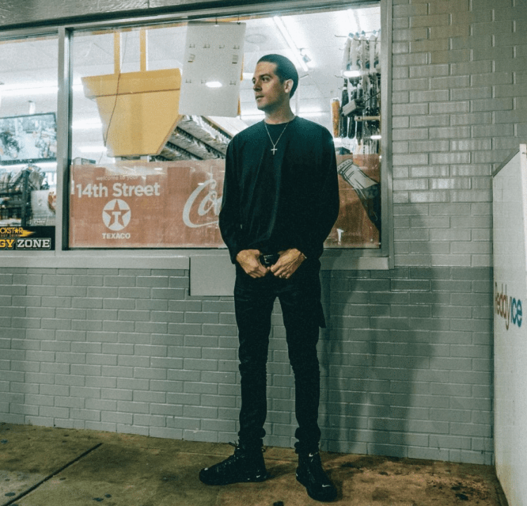 G Eazy in the Supreme x Nike Air More Uptempo