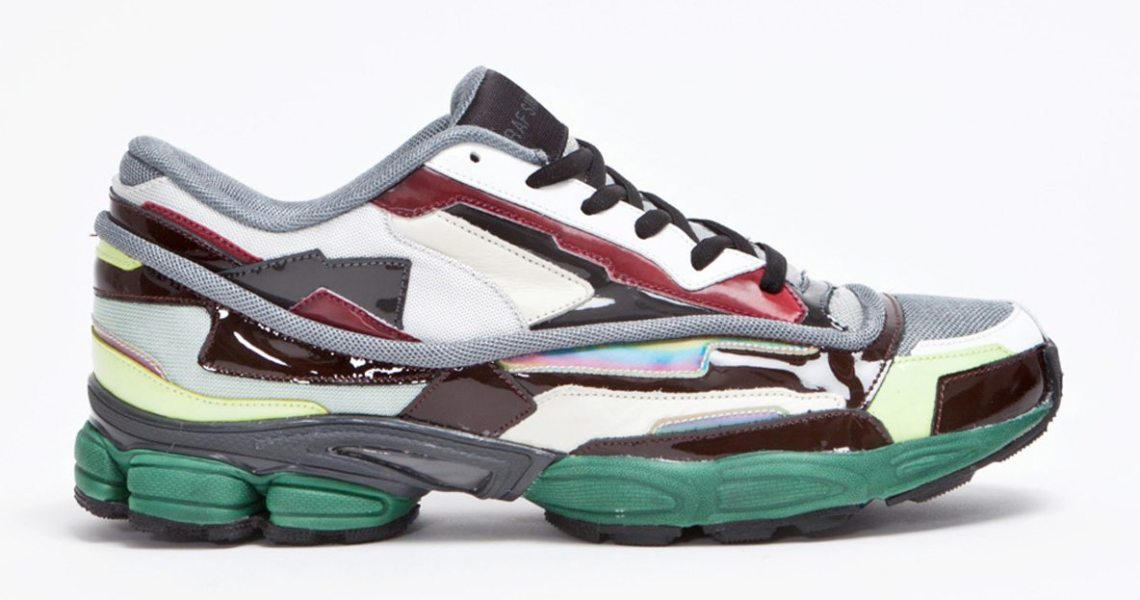 quality design 3e8ff 025a9 ... Raf Simons Panelled Running Shoe (2013) via Tres Bien Hypebeast Raf  Simons Contrasting Leather Suede and Mesh Sneakers ...