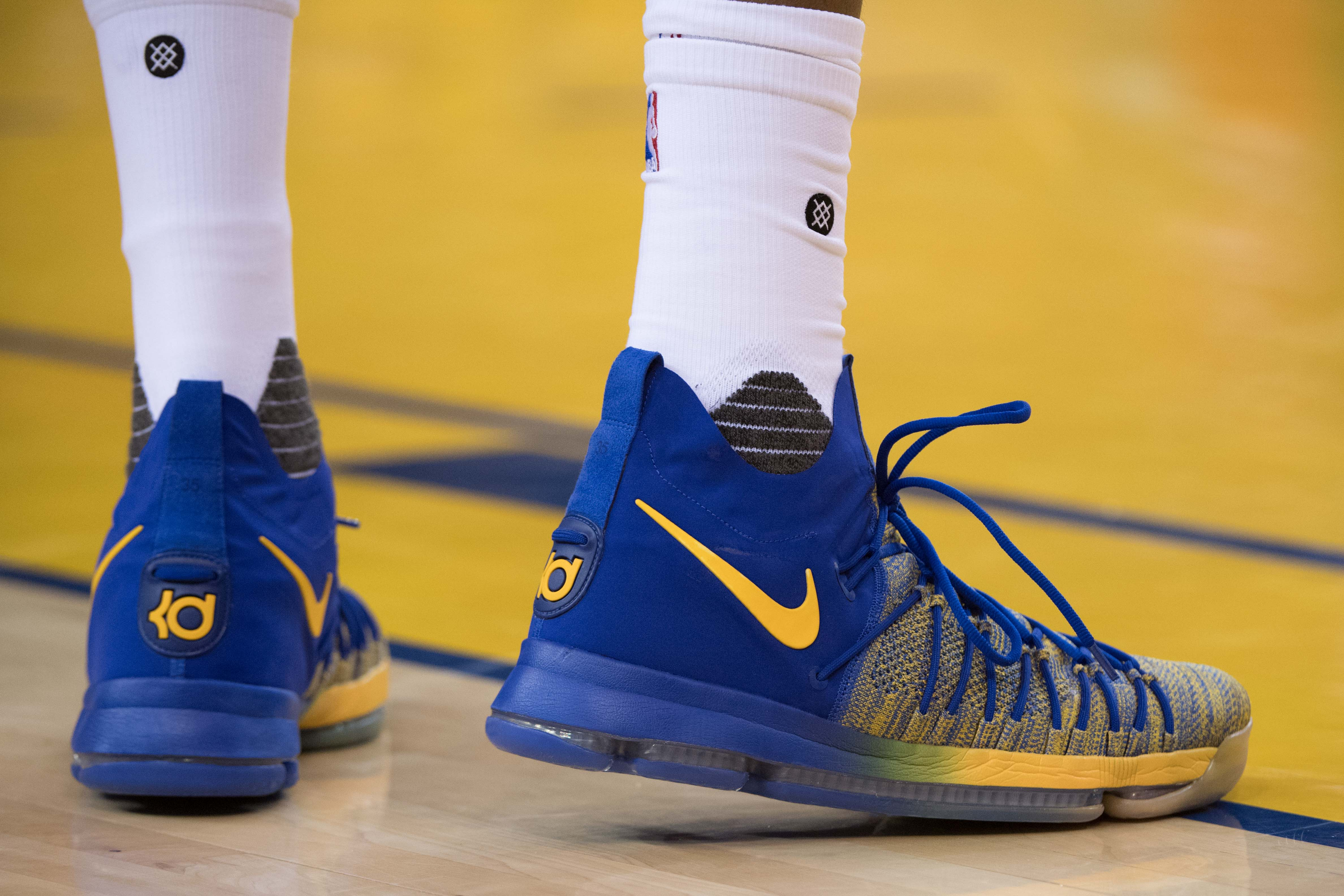 Durant in his KD 9s. (Kyle Terada-USA TODAY Sports)