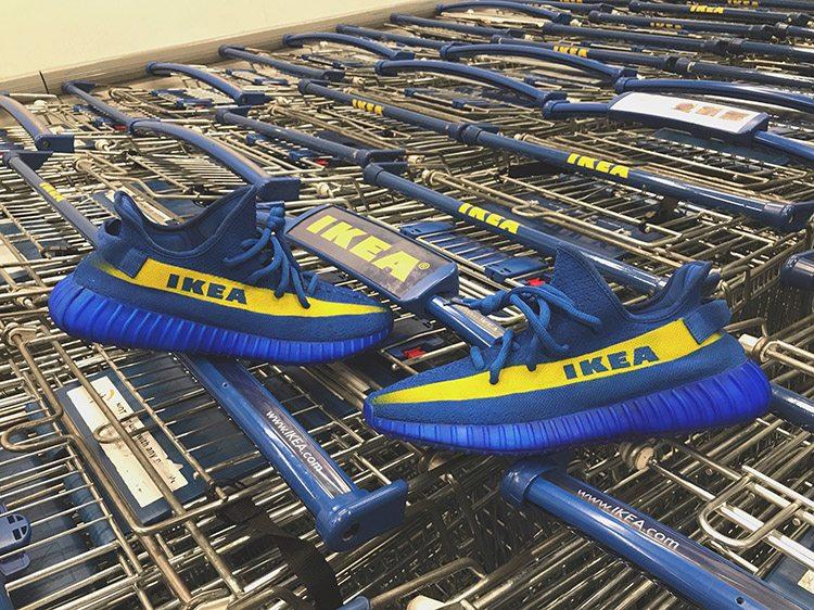 From Meme to Mache Custom The IKEA x Adidas Yeezy Boost