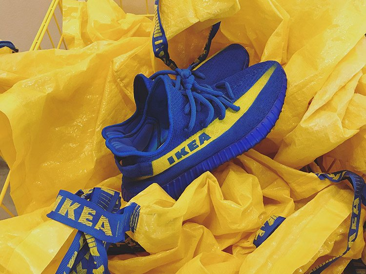 IKEA x Adidas Yeezy Boost 350 V2 custom by Mache