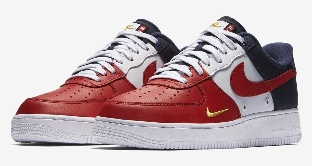 """""""USA"""" Nike Air Force 1 Low Mini Swoosh Releases This Summer"""