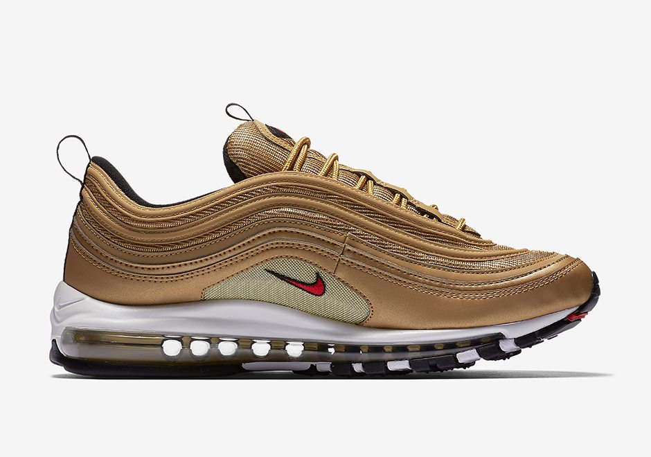 "outlet store 780af 789a3 Nike Air Max 97 ""Metallic Gold"" ..."