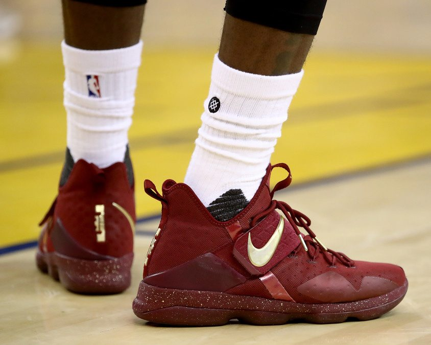 new concept 41657 ab09a Every Nike Sneaker Worn By LeBron James In The NBA Finals ...