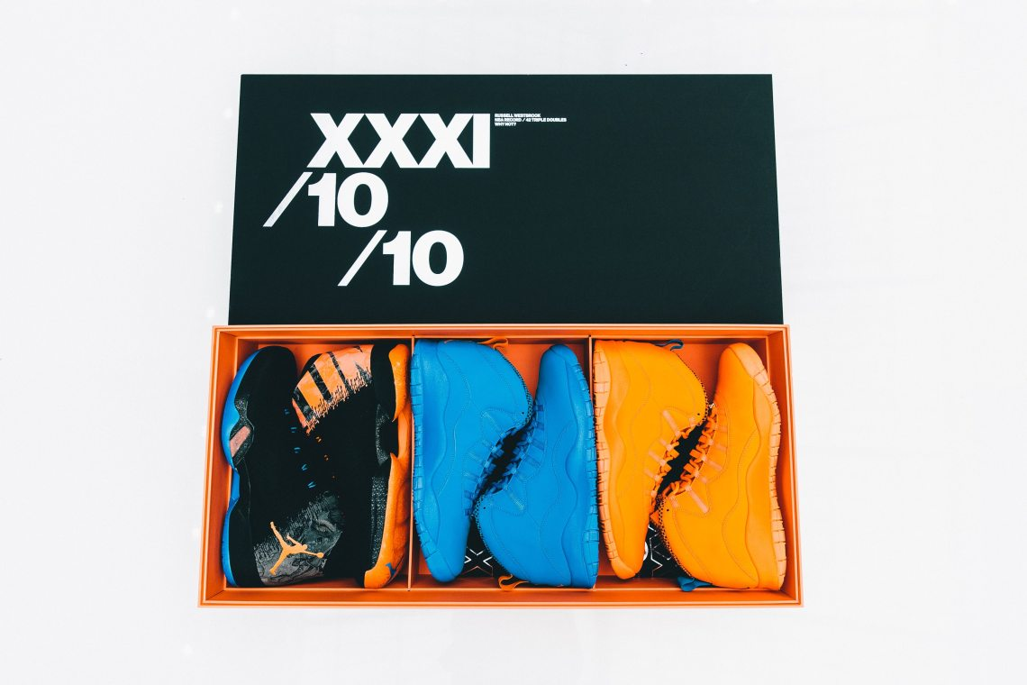 624f49cd7b4 Russell Westbrook Gets Air Jordan XXX1/10/10 PE Pack for His MVP ...