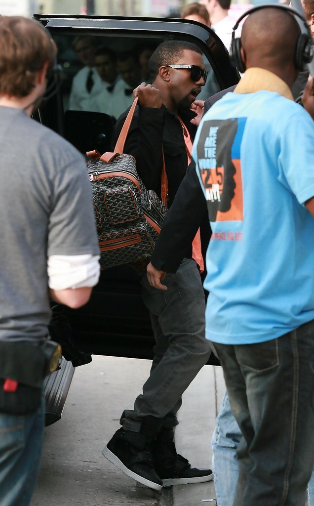 ... Kanye West in the Ato Matsumoto Cowhide Boot ... 08e3a818ec