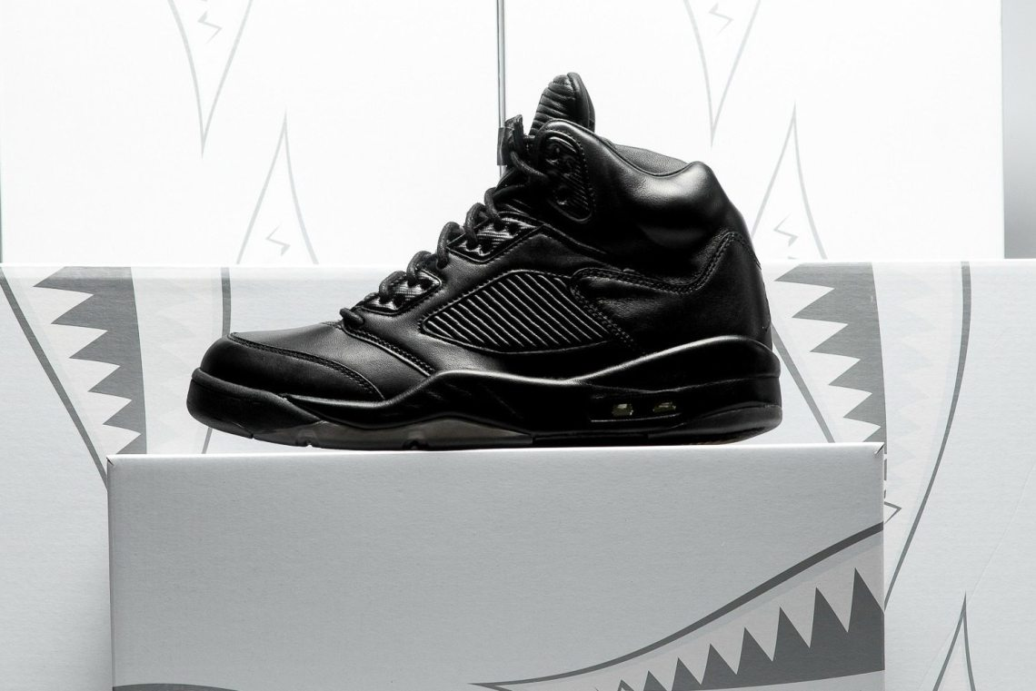 "official photos df249 05d36 Air Jordan 5 Retro Premium ""Black Black"""