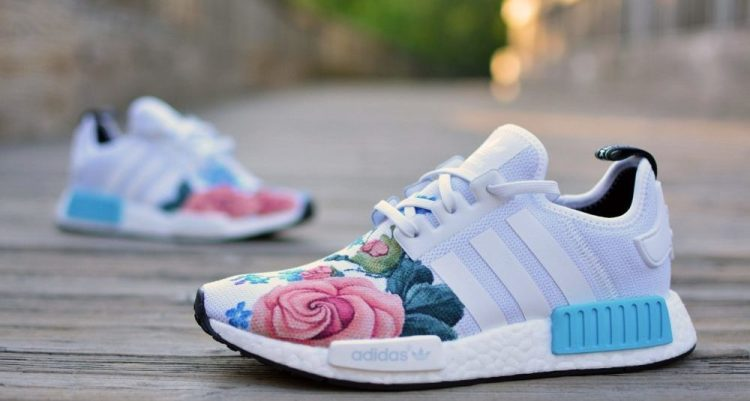 "adidas NMD ""Grandma's Floral"" Custom by Kendra's Customs"