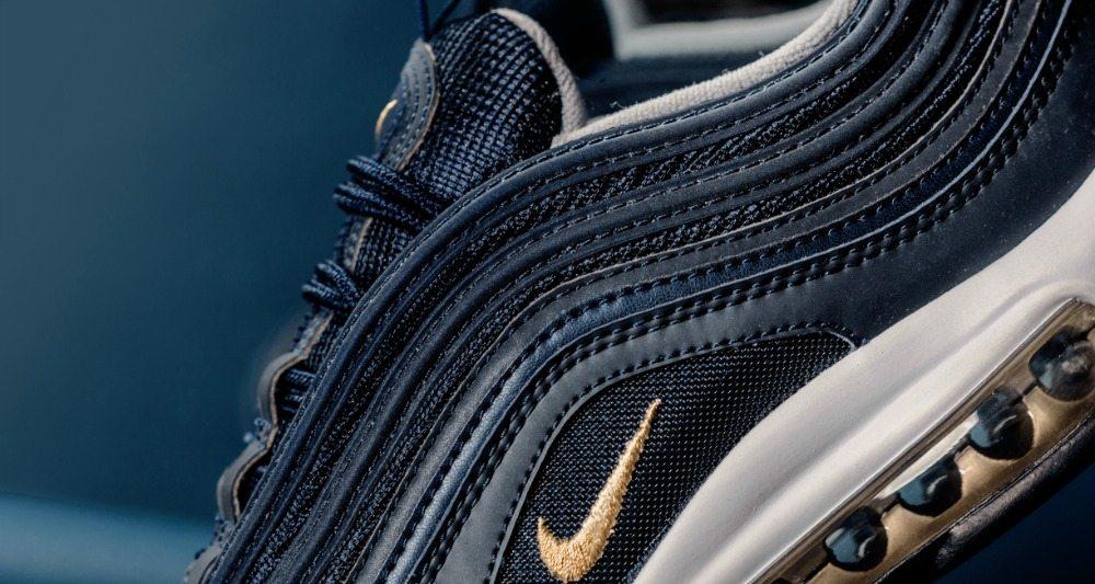air max 97 navy blue gold