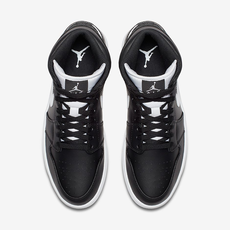 official photos f3ae5 f1e6c ... Air Jordan 1 Mid Black White