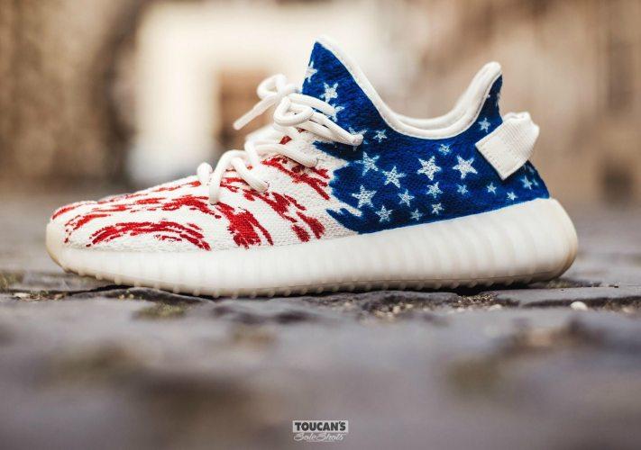 Blue Cream Shoes