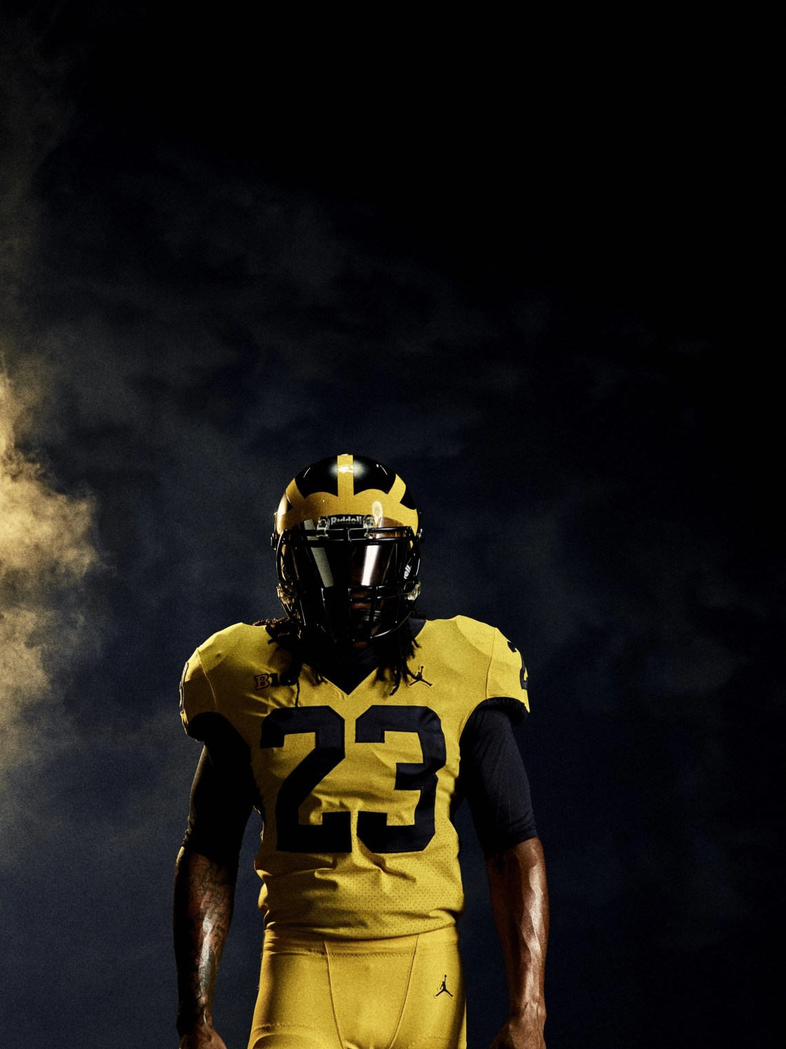 9e23beabd1b8 ... Jordan Brand Unveils Michigan s All-Maize Uniforms