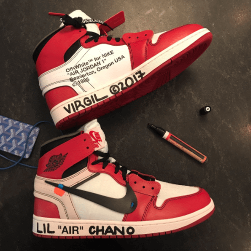 Chance the Rapper Gets His Off-White x Air Jordan 1