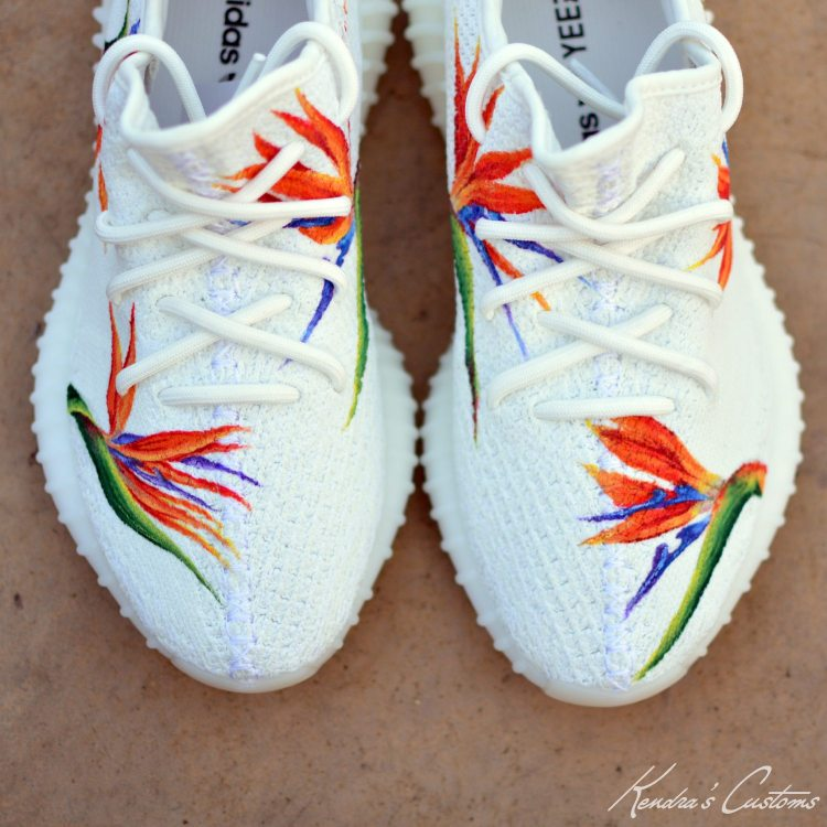 ... custom yeezy. adidas yeezy boost 350 v2 u201cbirds of paradiseu201d  custom by kendrau0027s customs ... bf5068a2e
