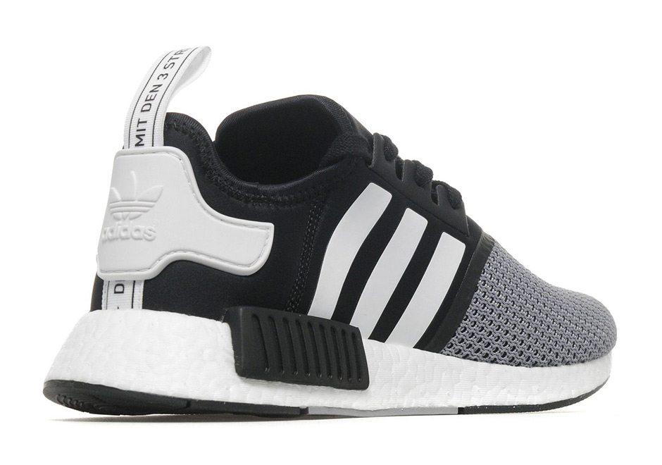 814a5b112 Adidas nmd r1 black and white