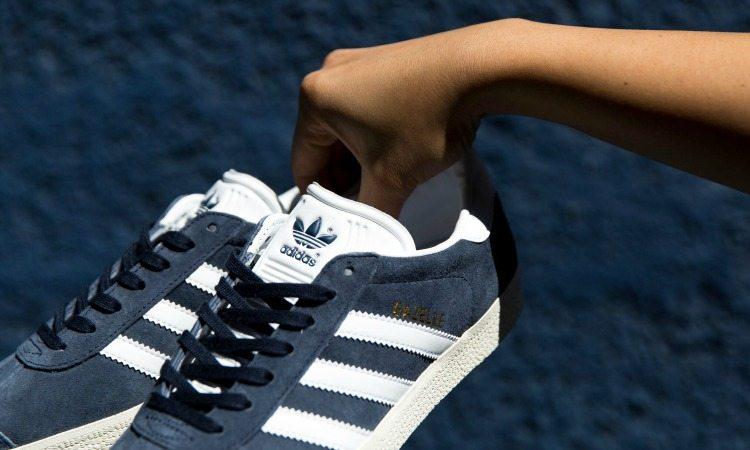 adidas gazelles womens blue