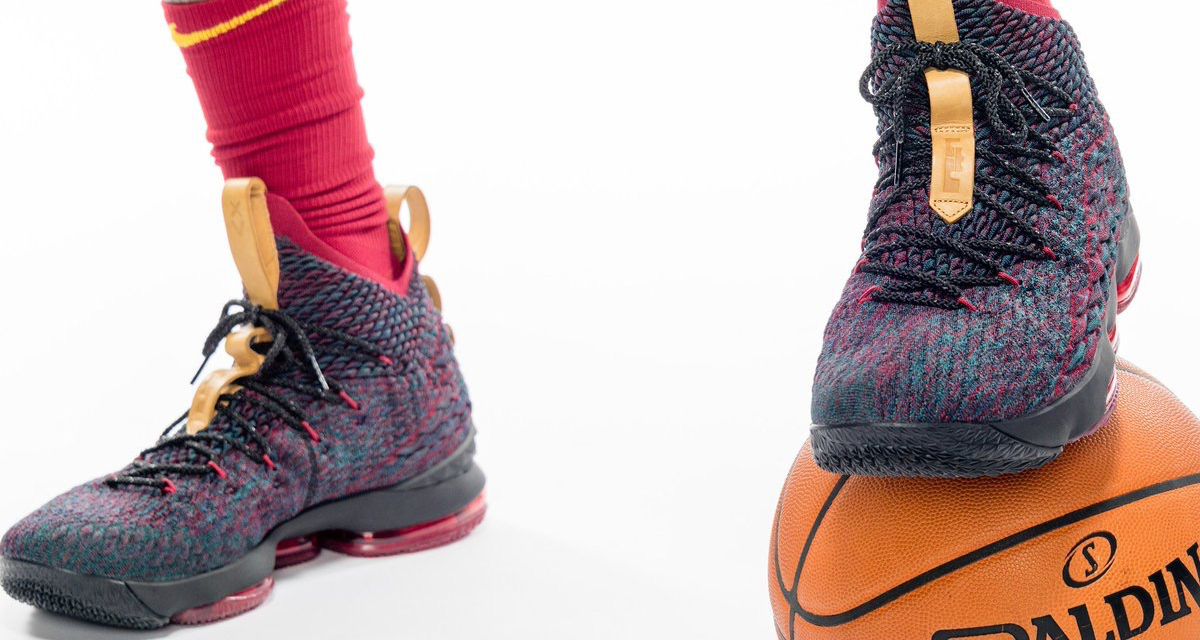 657923dc9874 LeBron James Wears New Nike LeBron 15 Colorway for Cavs Media Day ...