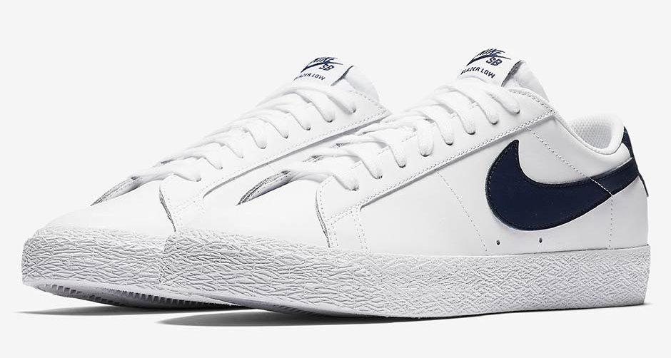 Nike SB Blazer Low White/Obsidian // Preview | Nice Kicks