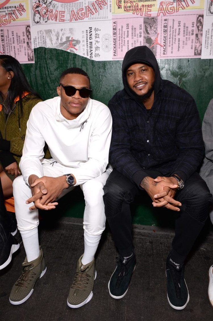Russell Westbrook & Carmelo Anthony in the PSNY x Air Jordan 15