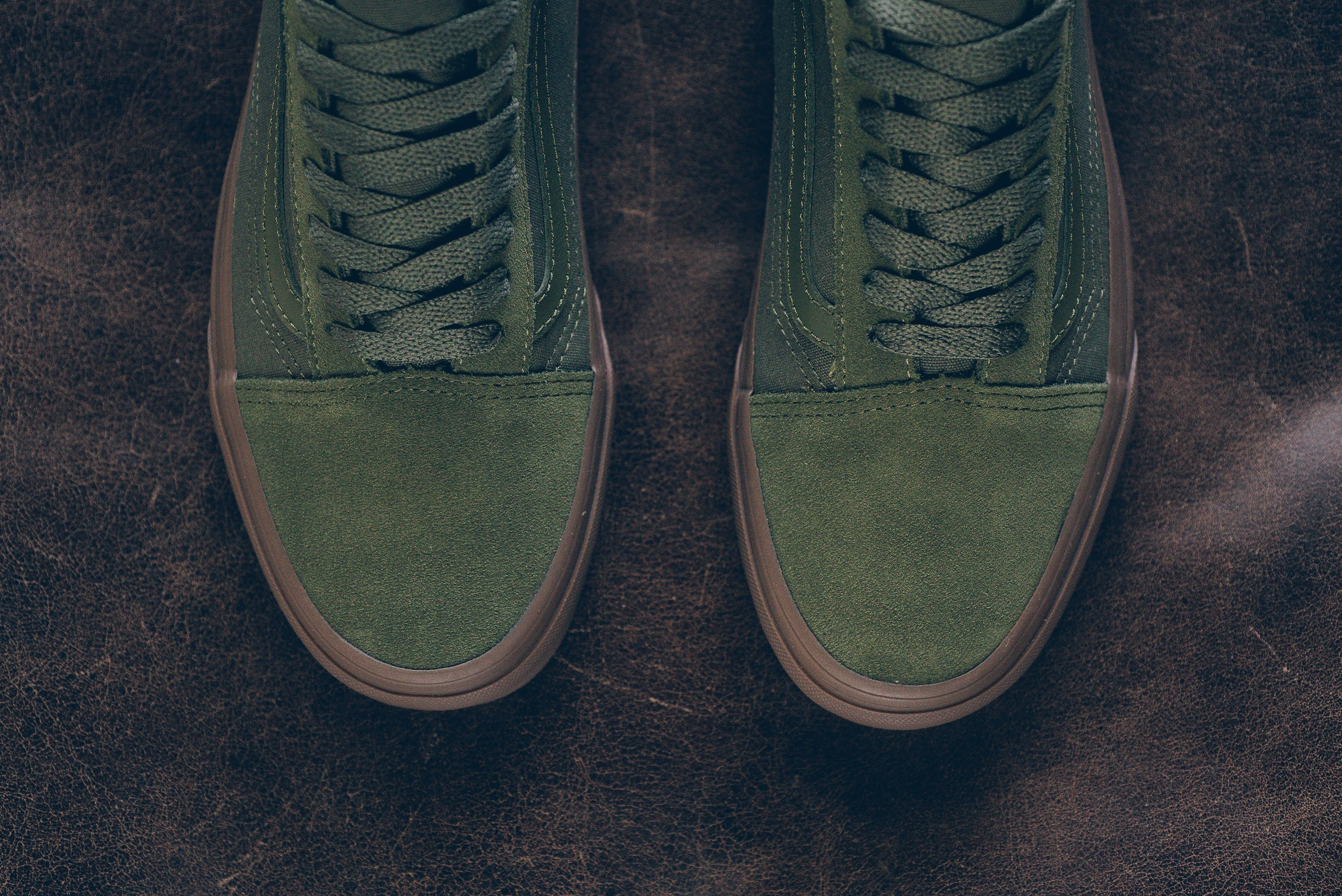 vans old skool winter moss