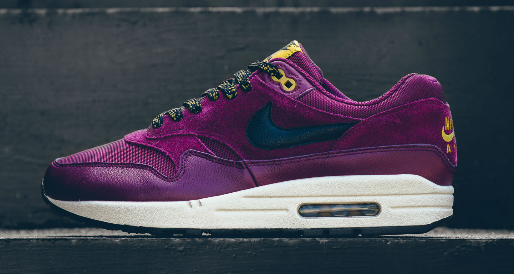 Nike Air Max 1 Premium BordeauxDesert Moss Available Now