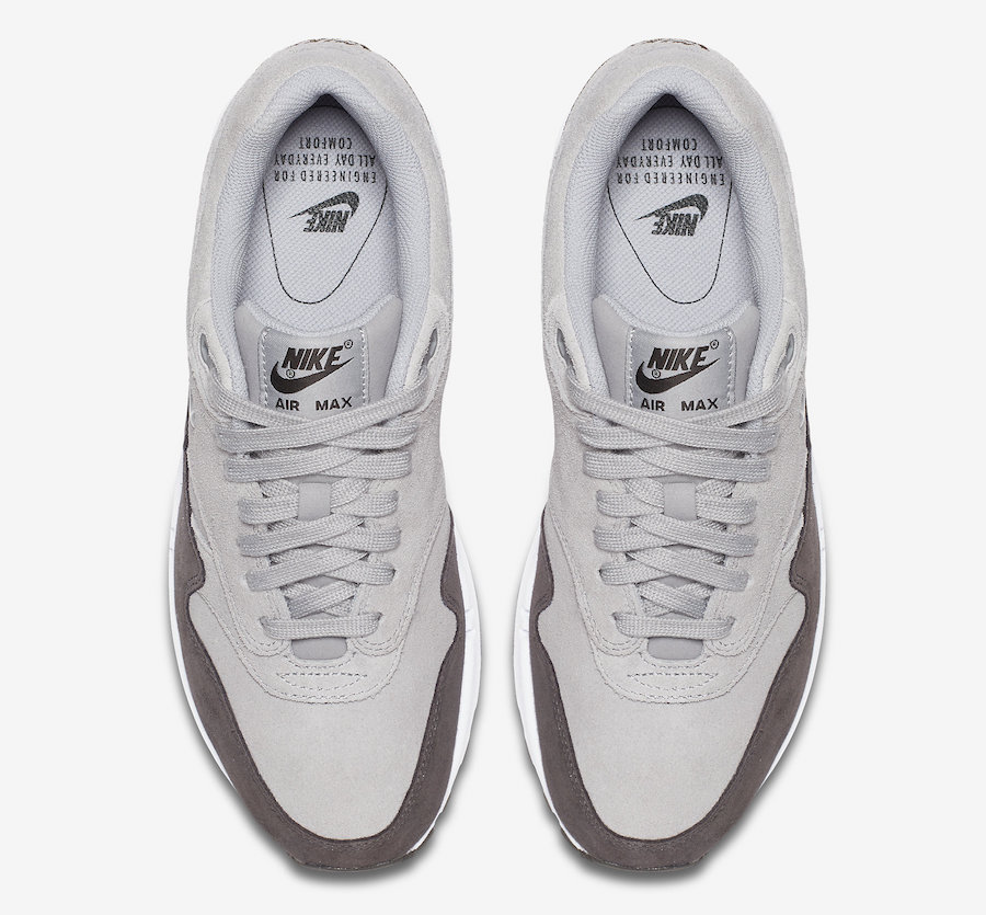 33a7fecaec2 Nike WMNS Air Max 1 Jewel. Colorway  Wolf Grey Metallic Pewter-White Style     AA0512-002. Release Date  October 14